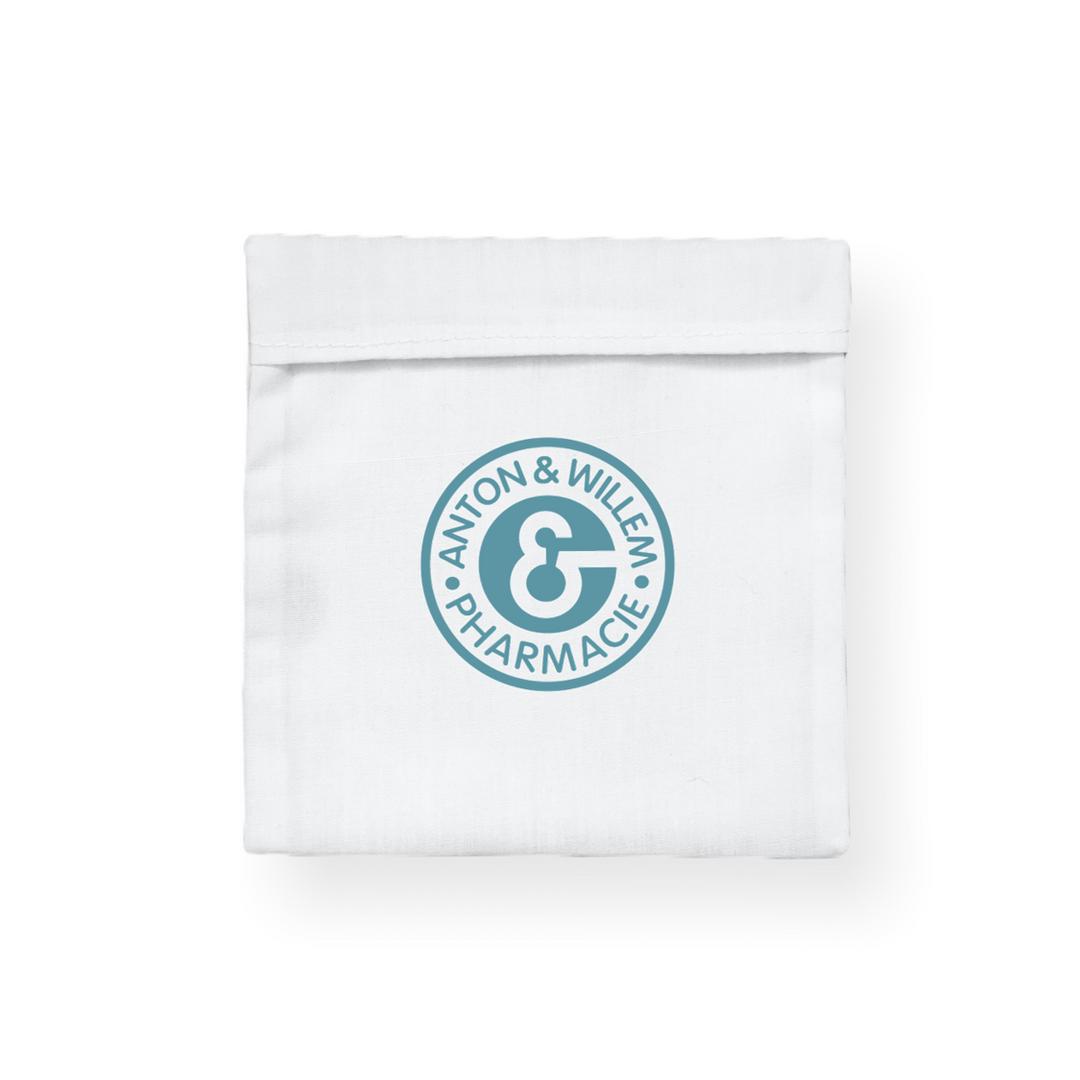 Pochette de masque coton avec logo blanche by Lygo