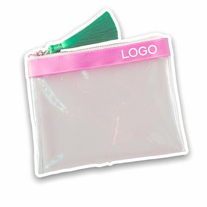 Pochette cosmétique transparente publicitaire rose