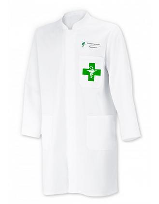 blouse blanche personnalisée coton équitable pharmacie et medecine