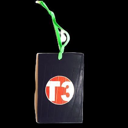 porte étiquette bagage publicitaire personnalisable écologique recyclé en chambre à air
