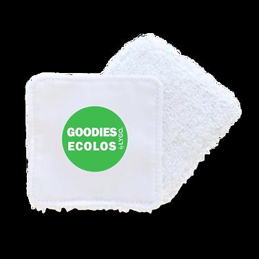 lingette lavable publicitaire écologique avec logo fabriqué équitablement par Lygo