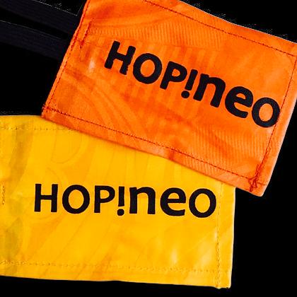etiquette bagage en bazin - coton sur mesure personnalisable avec Logo | Lygo.fr