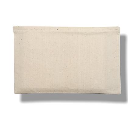 POCHETTE DE VOYAGE : Basic fermeture éclair premier prix en coton naturel