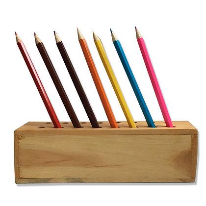 Pot à crayon en bois équitable