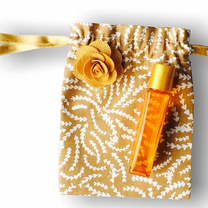 pochette de maquillage personnalisable cœur marron