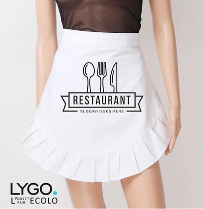 Tablier de service personnalisé avec Logo luxe vintage simple
