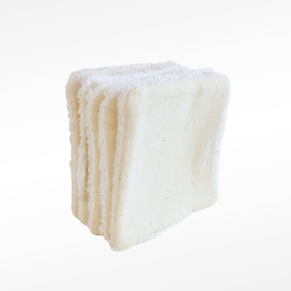 Lingette  lavable carré personnalisable standard coton bio OEKOTEX retournée