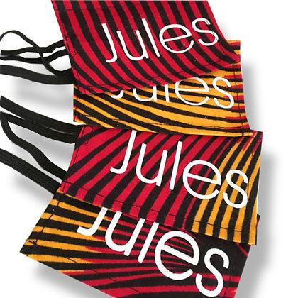 étiquette de voyage publicitaire en wax tissu coton personnalisé
