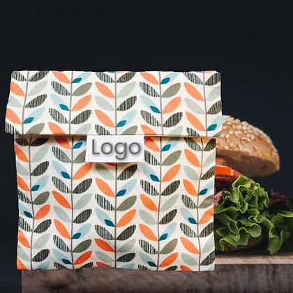 Sac à sandwich publicitaire zéro déchet format carré. Ou encore sac à gouter publicitaire. En coton fabriqué équitablement da