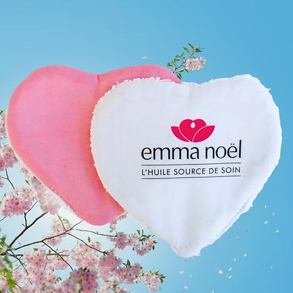 Lingette lavable publicitaire cœur 💔 personnalisable couleur au choix