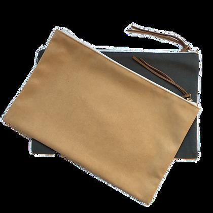 pochette de voyage publicitaire en coton personnalisable avec fermeture éclaire pour agence de voyage