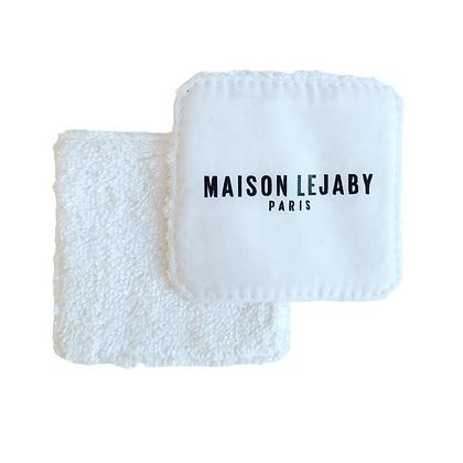 Lingette lavable en coton bio personnalisable blanche