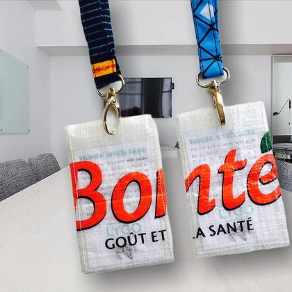 porte badge écologique en plastique recyclé personnalisable