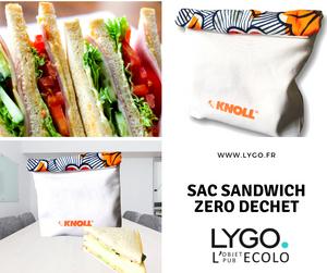 Lunch bag personnalisé réutilisable en tissu et wax