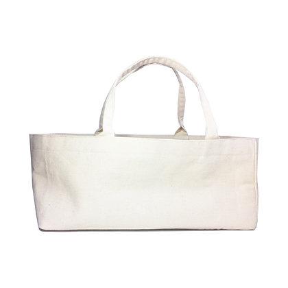 Sac publicitaire Luxe en coton. Format original allongé japonais. Ce sac peut être entièrement personnalisé.