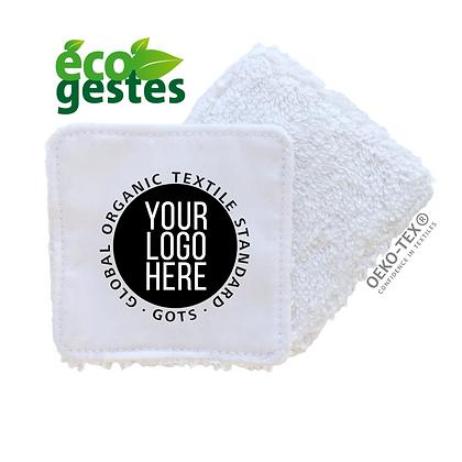 Lingette lavable personnalisable standard coton bio blanche