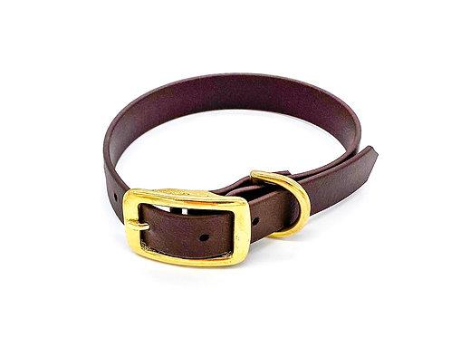 "1,9cm Halsband ""simple Biothane braun"" Halsumfang: 30-38cm"