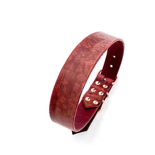 """3,0cm Halsband """"beef bordeaux"""" Halsumfang: 40-48cm"""
