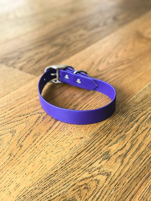 "2,5cm Halsband ""simple Biothane lila"""