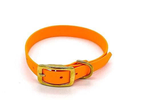 "1,9cm Halsband ""simple Biothane mango"" Halsumfang: 29-37cm"