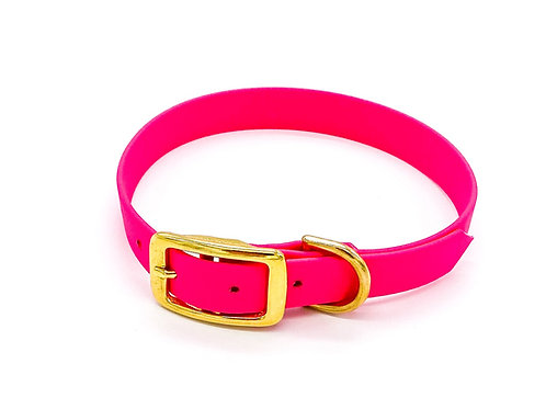 "1,9cm Halsband ""simple Biothane magenta"" Halsumfang: 33-41cm"