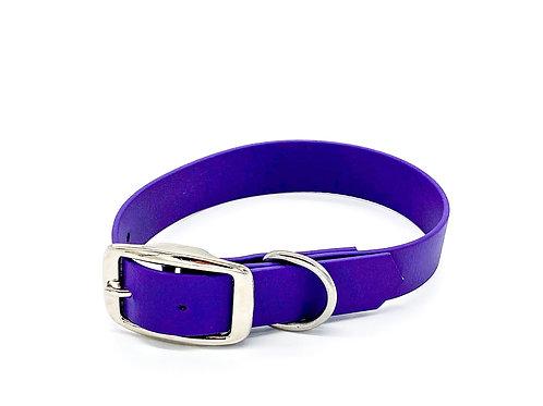 "2,5cm Halsband ""simple Biothane lila"" Halsumfang: 31,5-37,5cm"