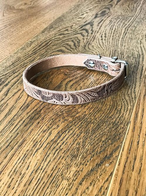 "1,5cm Halsband ""floral sand"""