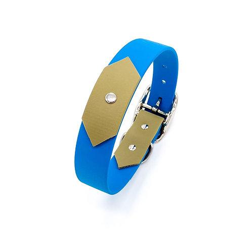 "2,5cm Halsband ""colourful Biothane petrol/khaki"" Halsumfang: 32,5-40,5 cm"