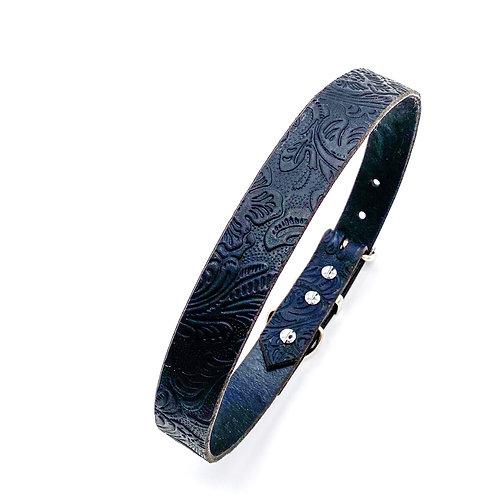 """2,5cm Halsband """"floral black"""" Halsumfang: 47-55cm"""