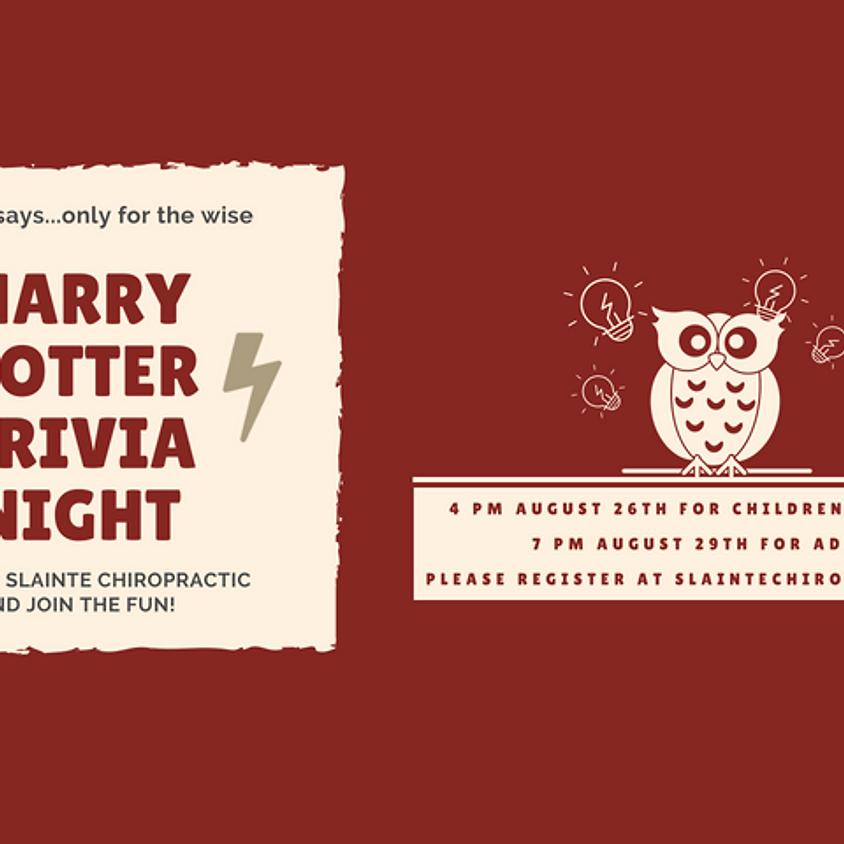 Harry Potter Adult Trivia Night
