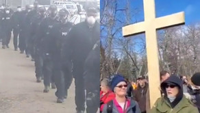 200 Armed Riot Police Break Up Christian Church Service In Canada