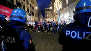 Italian police arrest far-right party leaders after anti-vax riot