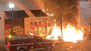 Antifa Rioters Burn Portland Apple Store, Fire Guns from Cars