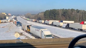 THE TRUCKERS PLIGHT IN THIS ICE STORM OF THE CENTURY