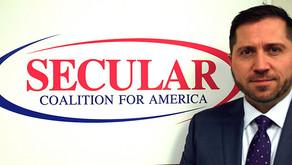 New head of major secular group is a Christian