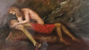 Pope Hangs Picture of Naked Jesus Caressing Judas in His Office