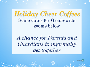 Grade Wide Parent ZOOM Coffees