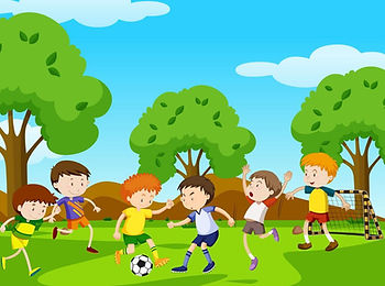 boys-playing-football-in-the-park-vector