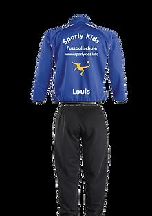 sportykids Trainingsanzug hinten blau -