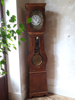 Grandfather clock, stars and moons
