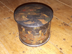 Small Japanese laquered papier maché box