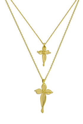 Olive leaf cross