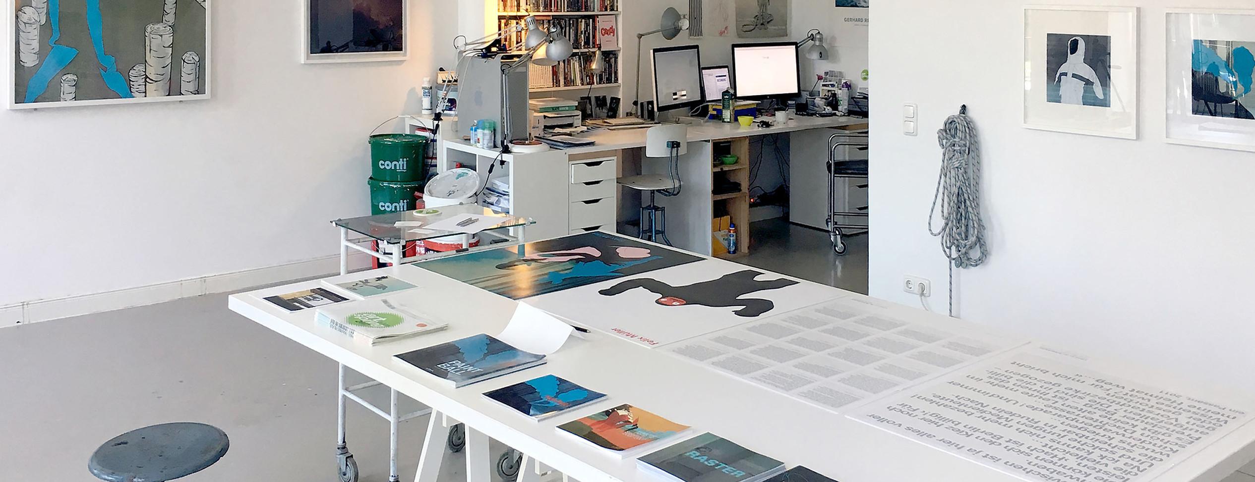 Berliner Grafik-Agentur Mueller and Friends. Dies ist unser Arbeitsraum.