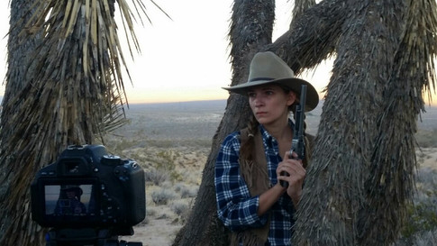 """On set for """"3 Bullets to Bombay Beach"""""""