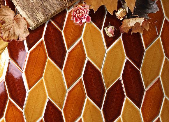 Gạch Mosaic Chiếc Lá Leaf