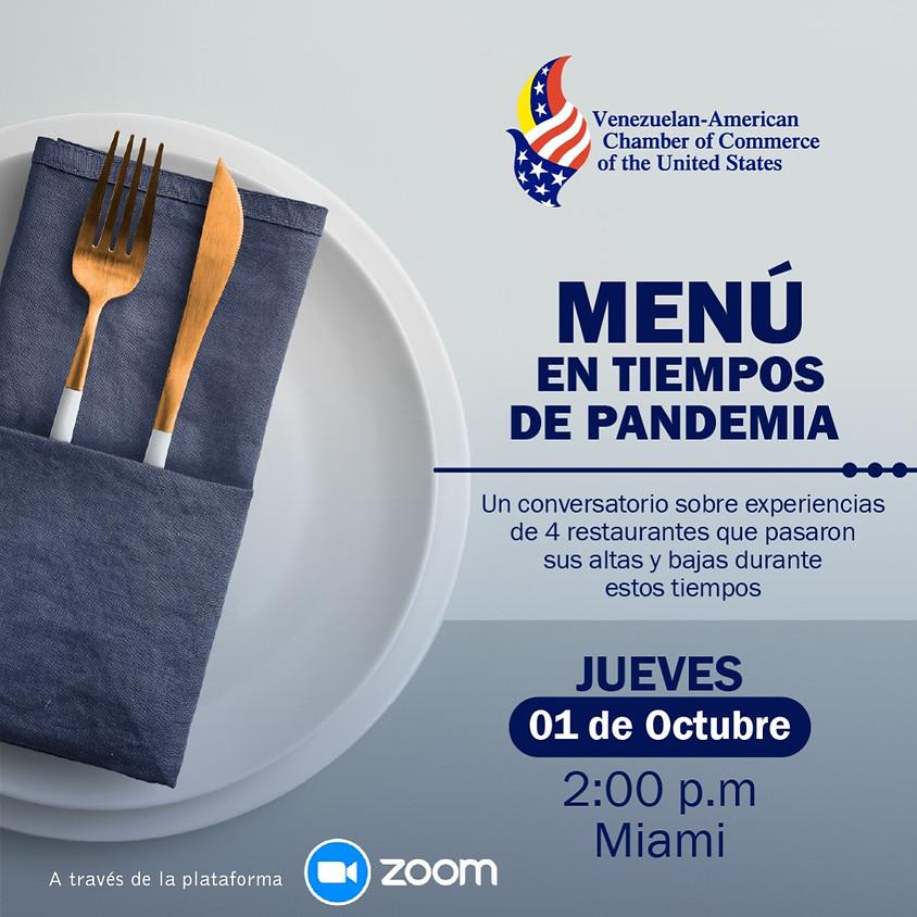 Menú en tiempos de Pandemia