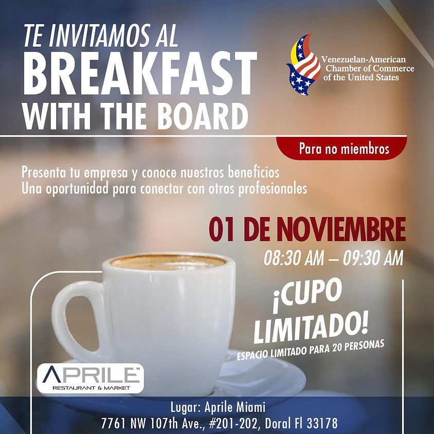 Breakfast With the Board en Aprile Miami