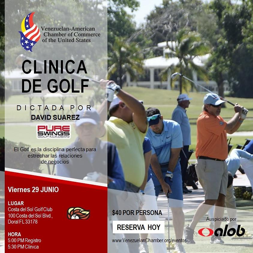 Nueva Fecha: Clínica de Golf de la Venezuelan-American Chamber of Commerce