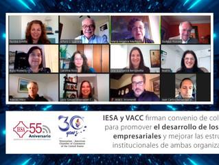 IESA y VACC firman convenio de colaboración.