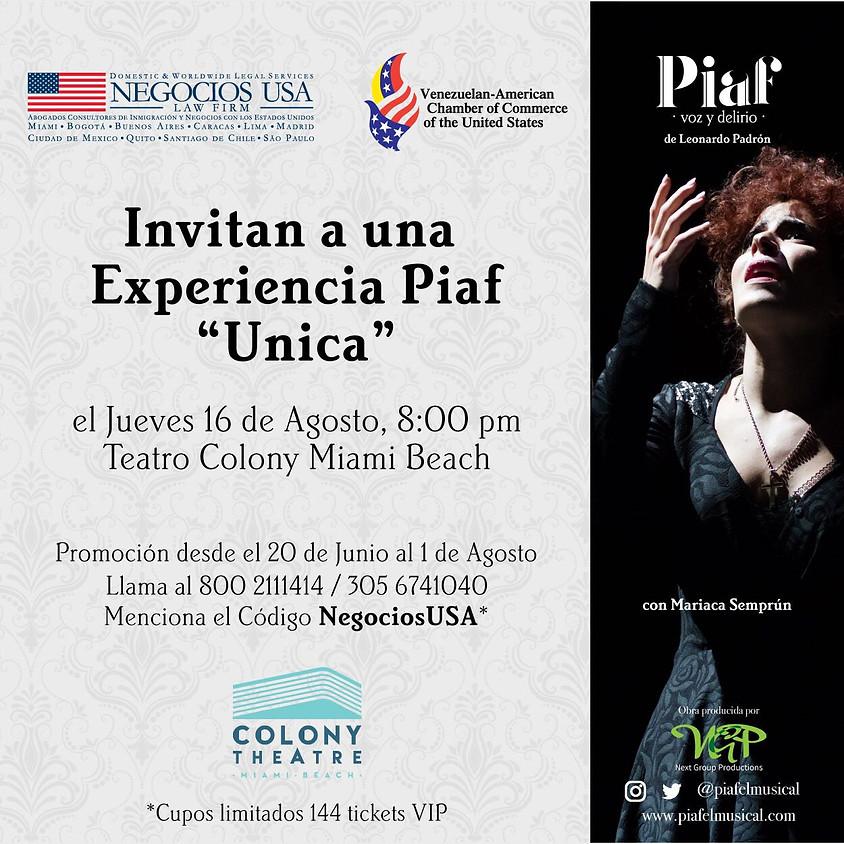 Musical: Piaf Voz y Delirio